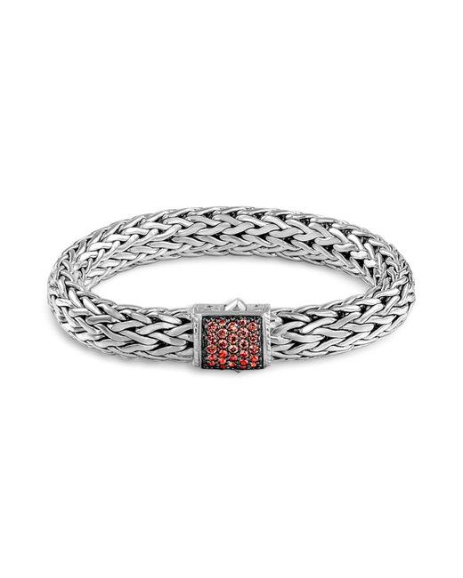 John Hardy | Metallic Classic Chain 11Mm Large Braided Silver Bracelet | Lyst