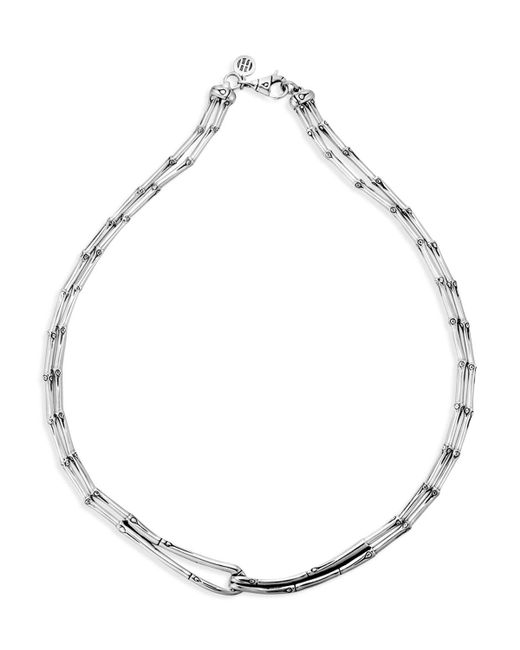 John Hardy | Metallic Sterling Silver Bamboo Necklace, 17"