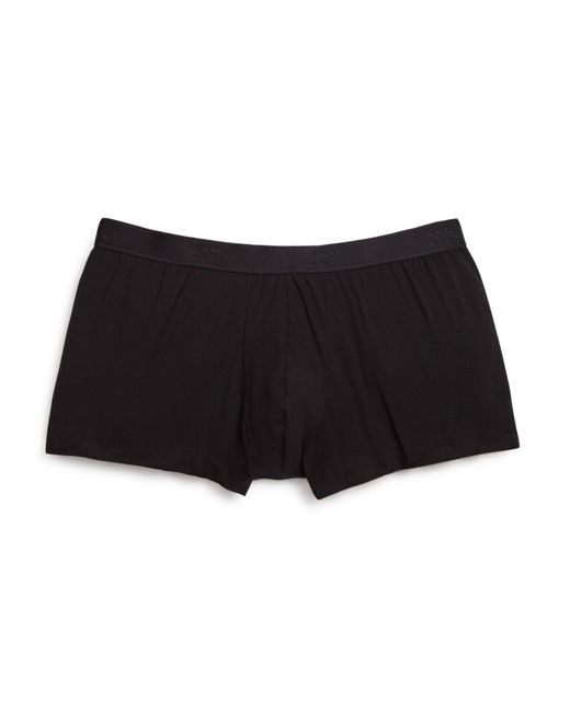 Derek Rose | Black Pima Cotton Stretch Hipster Trunks for Men | Lyst