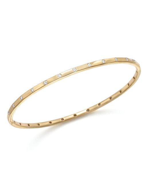 Ippolita   Metallic 18k Gold Glamazon® Stardust Thin 28 Stone Bangle With Diamonds   Lyst