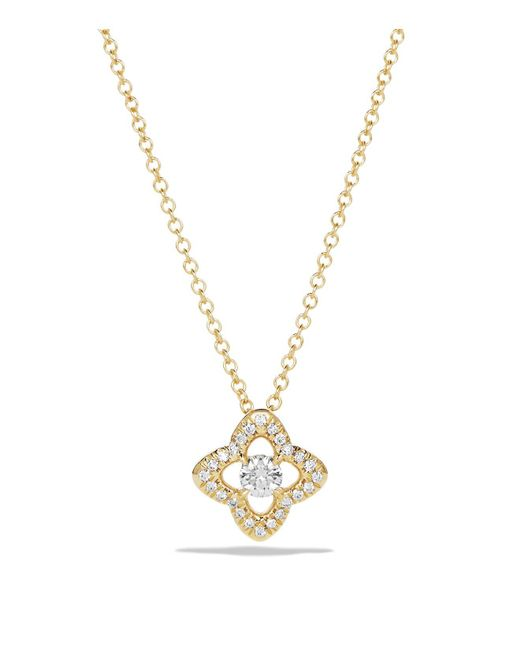 David Yurman | Metallic Venetian Quatrefoil Necklace With Diamonds In 18k Gold | Lyst