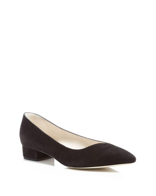 Giorgio Armani | Black Asymmetrical Block Heel Pumps | Lyst
