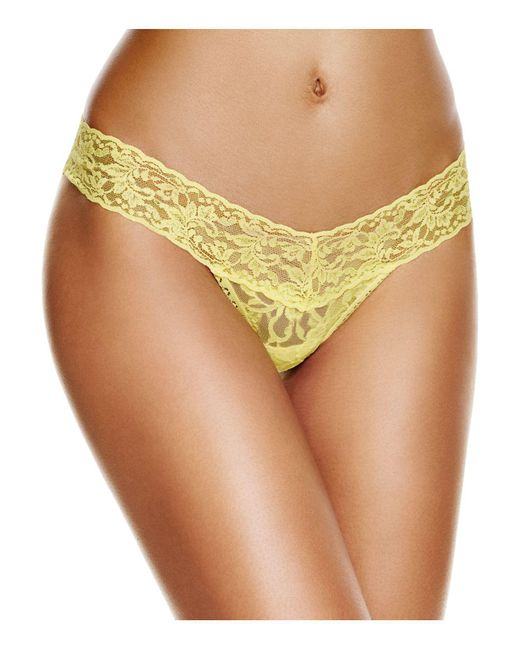 Hanky Panky | Yellow Petite Low-rise Thong | Lyst