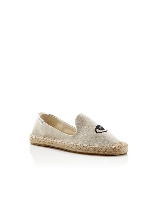 Soludos | Natural Jason Polan Wink Smoking Slipper Espadrille Flats | Lyst