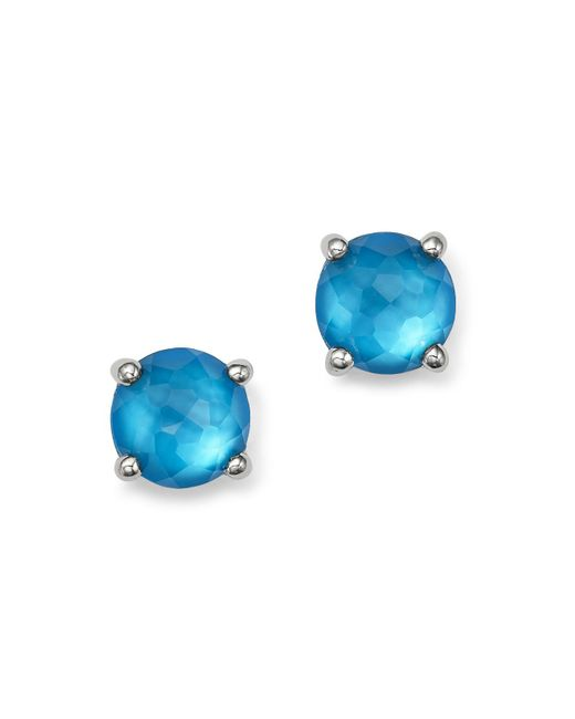 Ippolita | Blue Sterling Silver Wonderland Mini Doublet Stud Earrings In Ice | Lyst