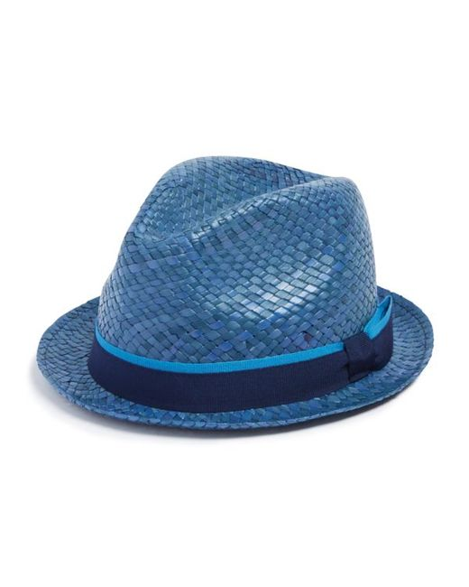 Paul Smith Bovens Straw Hat In Blue For Men Lyst