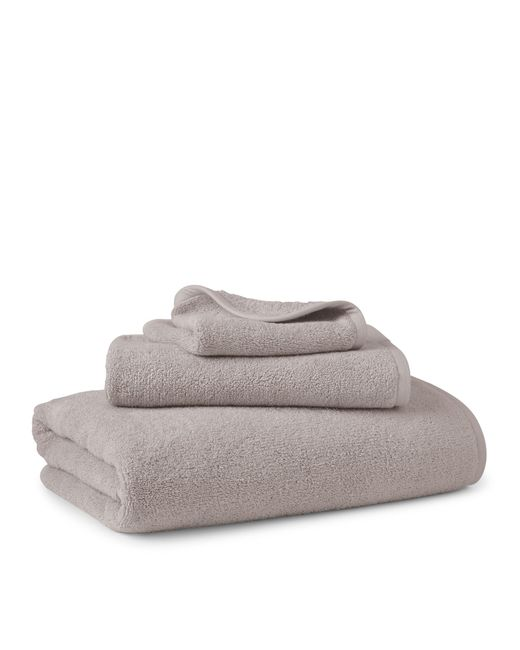 Double Face Technology Towel: Pink Pony Bedford Double Sided Cotton Bath Towel In Gray