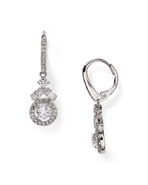 Nadri | Metallic Swarovski Crystal Drop Earrings | Lyst