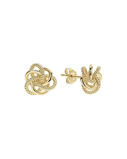 Lagos | Metallic 18k Yellow Gold Love Knot Stud Earrings | Lyst