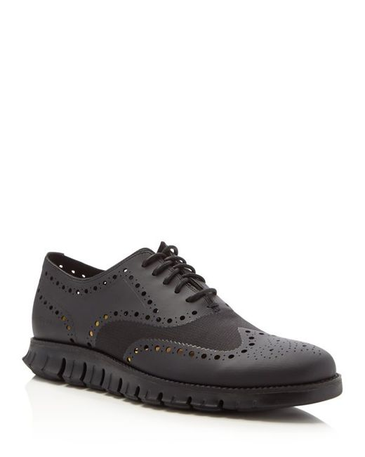 Cole Haan | Green Zerøgrand Wing-tip Oxford for Men | Lyst