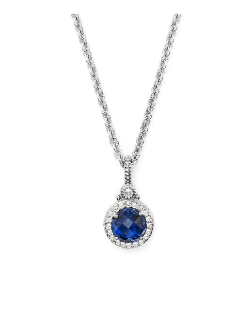 Judith Ripka | Metallic White Sapphire Sterling Silver Necklace | Lyst