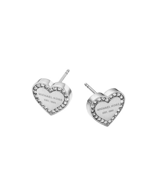 Michael Kors | Metallic Heart Stud Earrings | Lyst