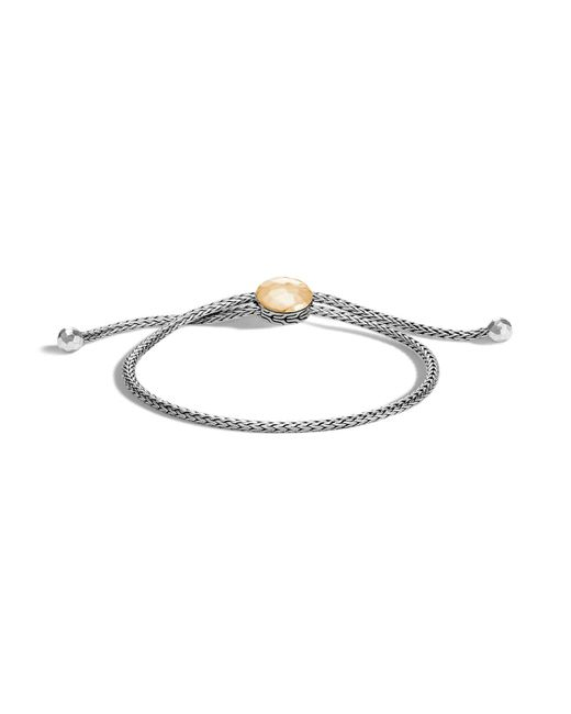 John Hardy | Metallic Sterling Silver And 18k Bonded Gold Classic Chain Hammered Ball Bracelet | Lyst