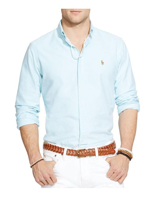 Polo Ralph Lauren | Blue Oxford Button-down Shirt - Classic Fit for Men | Lyst