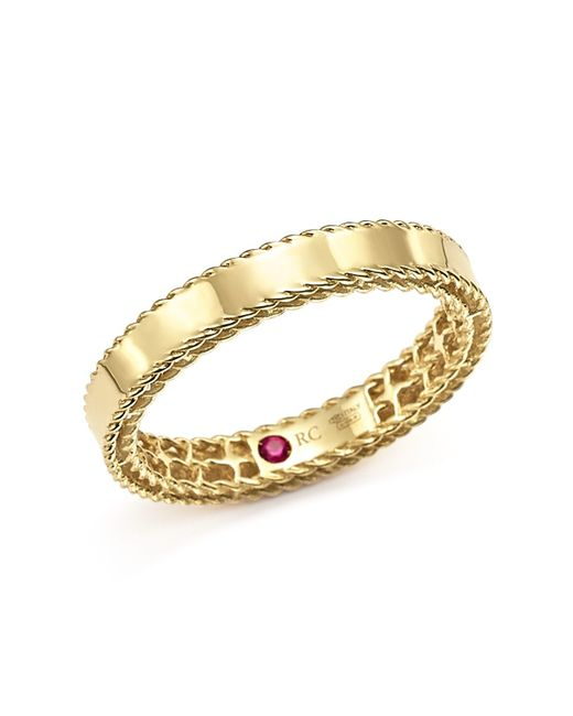 Roberto Coin | Metallic 18k Yellow Gold Symphony Braided-edge Ring | Lyst