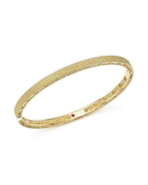 Roberto Coin | Metallic 18k Yellow Gold Symphony Braided Bangle Bracelet | Lyst