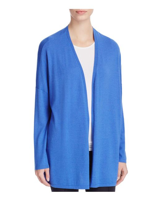 Basler | Blue Open Front Cardigan | Lyst