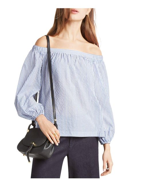 BCBGMAXAZRIA | Blue Ellsie Off-the-shoulder Top | Lyst