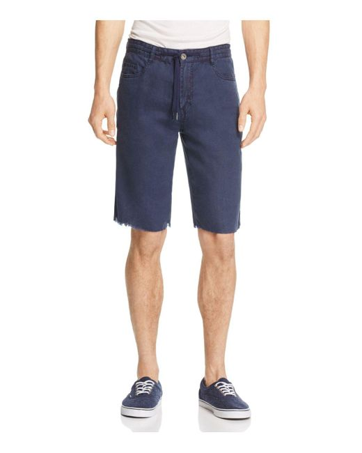 Blank NYC | Blue Frayed-hem Shorts for Men | Lyst