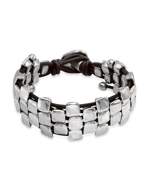 Uno De 50 Nailed Bracelet In Silver