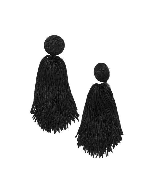 BaubleBar - Black Sonatina Tassel Earrings - Lyst