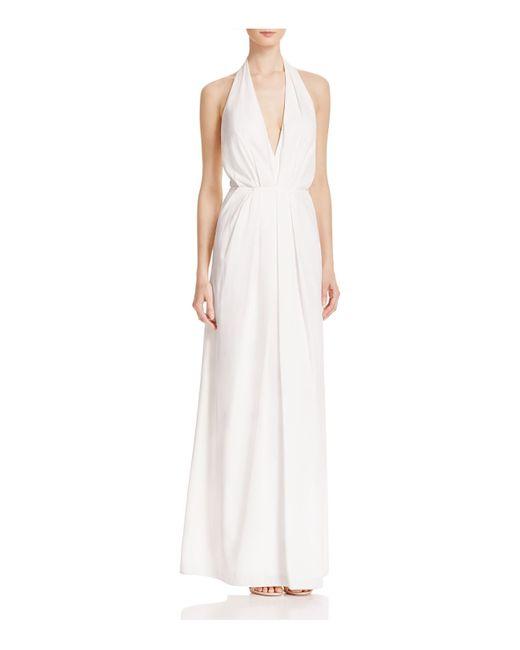 JILL Jill Stuart   White Deep V-neck Gown   Lyst
