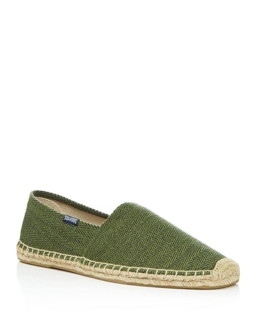 Soludos | Green Men's Original Dali Herringbone Espadrilles for Men | Lyst