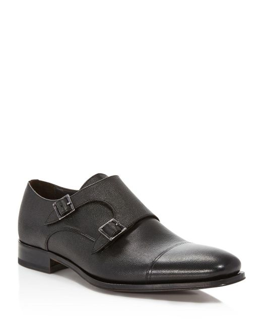 To Boot | Black Grant Monk Strap Loafers for Men | Lyst