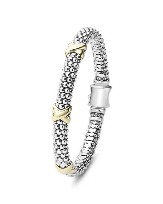 Lagos | Metallic 18k Gold And Sterling Silver Rope Bracelet | Lyst