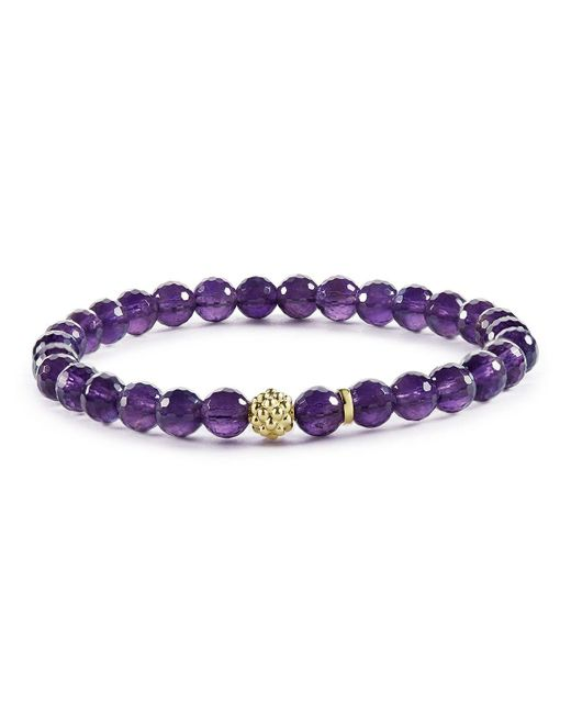 Lagos | Purple Caviar Icon Amethyst Bracelet With 18k Gold Caviar Station | Lyst