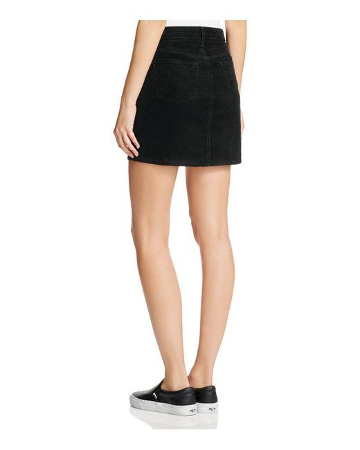 J brand Gwynne Corduroy Skirt in Black | Lyst