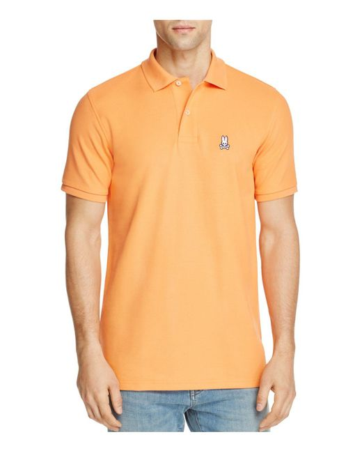 Psycho Bunny | Orange Classic Fit Polo for Men | Lyst