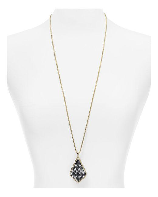 "Kendra Scott | Metallic Aiden Pendant Necklace, 32"" | Lyst"