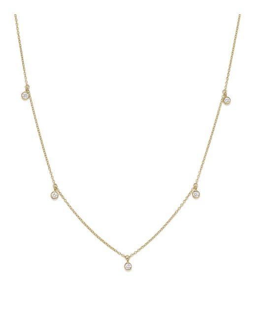 Zoe Chicco   Metallic Diamond & 14k Yellow Gold Station Necklace   Lyst