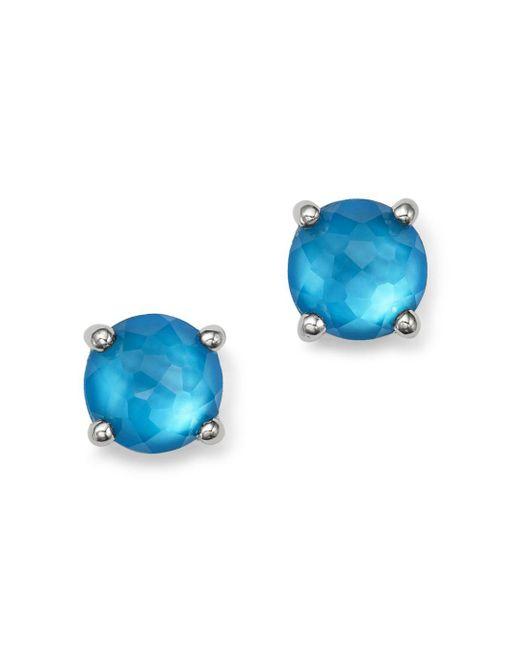 Ippolita - Blue Sterling Silver Wonderland Mini Doublet Stud Earrings In Ice - Lyst