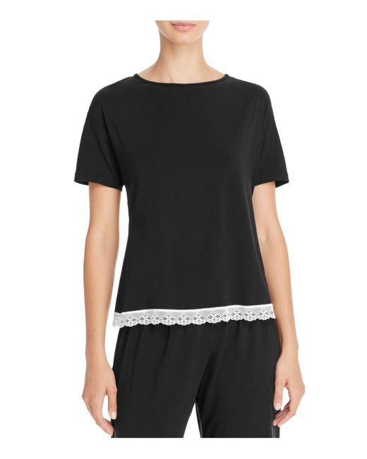 Cosabella | Black Majestic Short Sleeve Top | Lyst
