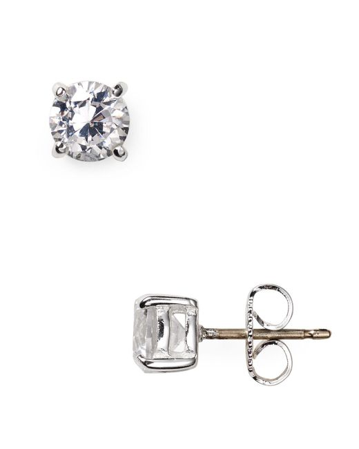 Carolee - Metallic Medium Cubic Zirconia Stud Earrings - Lyst