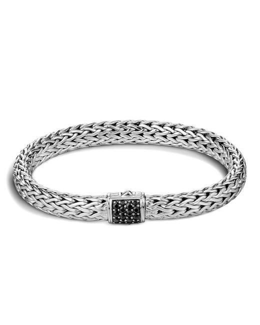 John Hardy - Metallic Classic Chain Sterling Silver Lava Medium Bracelet With Black Sapphire - Lyst