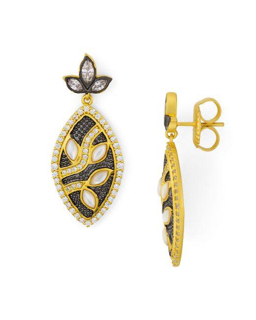 Freida Rothman | Metallic Leaf Earring | Lyst