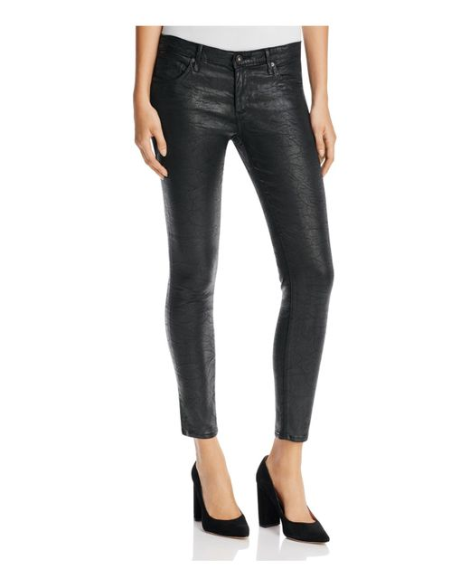 AG Jeans | Black 'the Legging' Sateen Ankle Jeans | Lyst