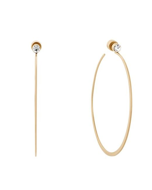 Michael Kors | Metallic Hoop Earrings | Lyst