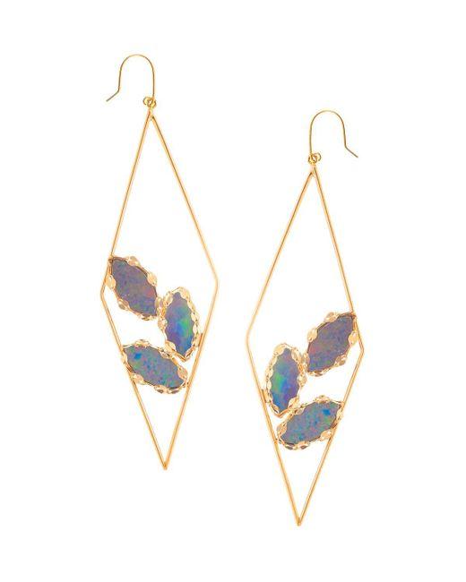 Lana Jewelry | Metallic Prix Diamond-shape Opal Hoop Earrings | Lyst