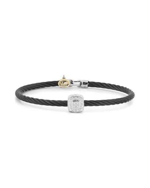 Alor - Diamond Black Cable Bangle - Lyst