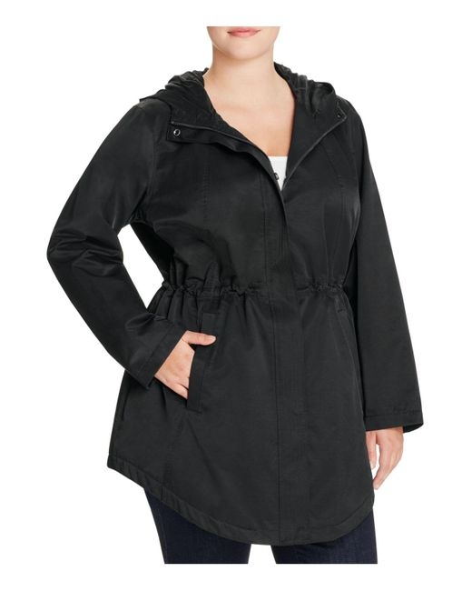 Eileen Fisher | Black Hooded Anorak Jacket | Lyst
