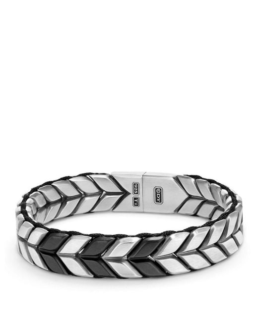 David Yurman - Metallic Chevron Woven Bracelet for Men - Lyst