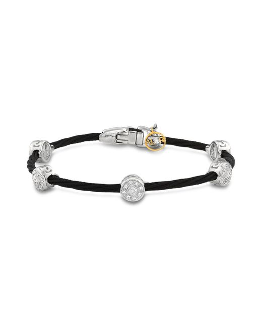 Alor - Diamond Stud Black Cable Bangle - Lyst