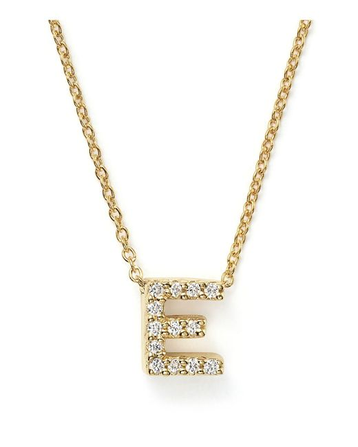 Roberto Coin | Metallic Tiny Treasures Diamond & 18k White Gold Love Letter Pendant Necklace | Lyst