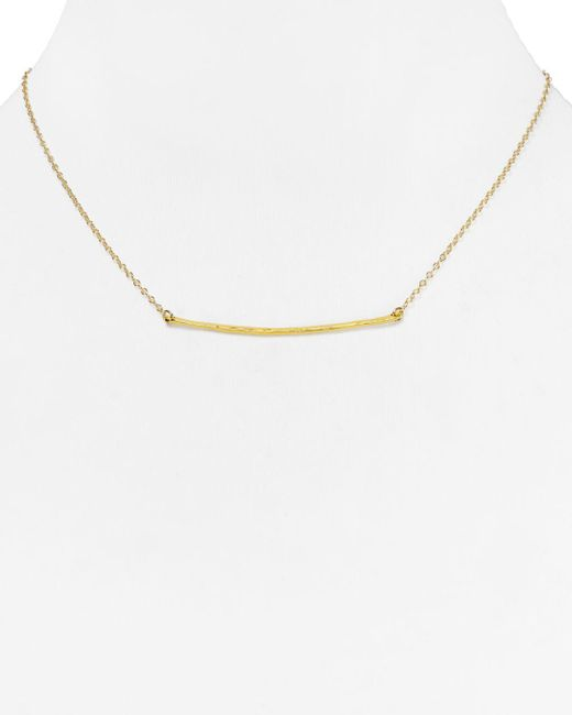 Gorjana - Metallic Small Taner Bar Necklace - Lyst