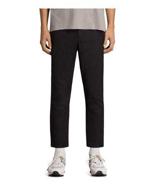 AllSaints - Black Kato Slim Fit Trousers for Men - Lyst