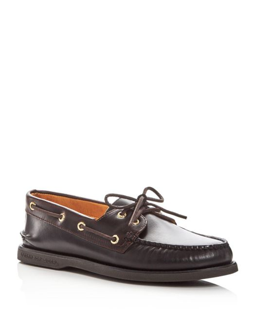 Sperry Top-Sider - Black Men's Gold Cup Authentic Original Two-eye Leather Boat Shoes for Men - Lyst